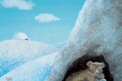 ilustracion nieve oso